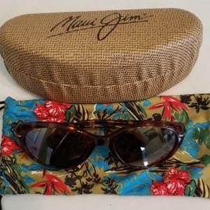 Maui Jim Cabana Bronze Polarized Sunglasses & Case